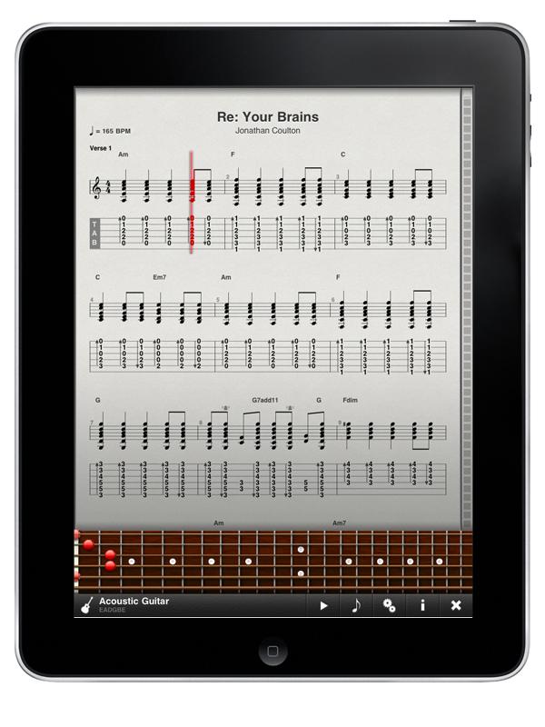 TabToolkit for iPad with Fretboard
