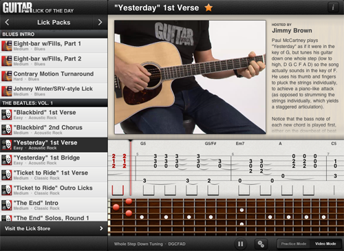 Guitar World Lick of the Day App