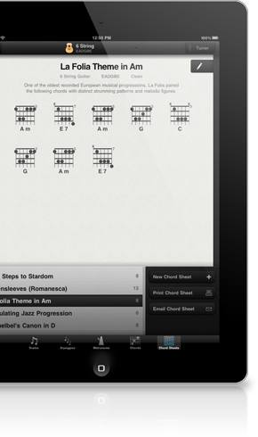 Learn guitar on your ipad
