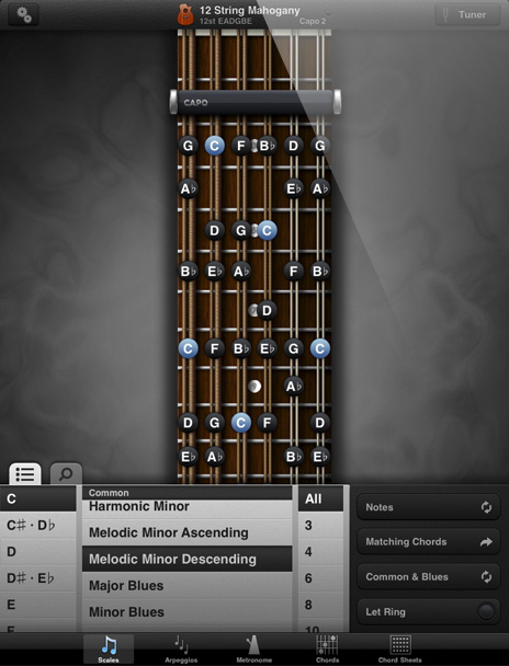 GuitarToolkit - Scales