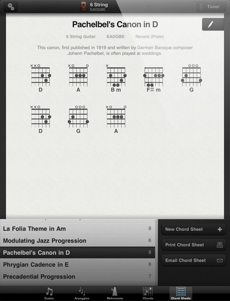 GuitarToolkit - Sheets
